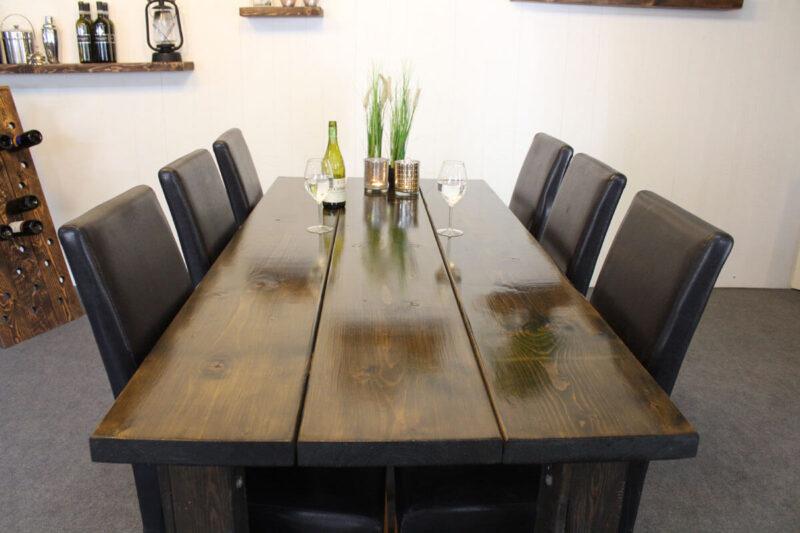 Sort spisebord 200x89 cm