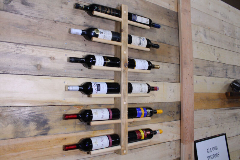 Vinreol væg 12 flasker natur