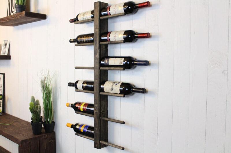 Vinreol væg 12 flasker sort