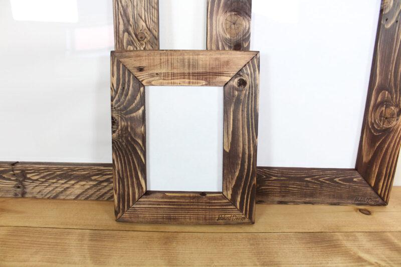 Billedramme i træ mørkebrun 13x18 cm